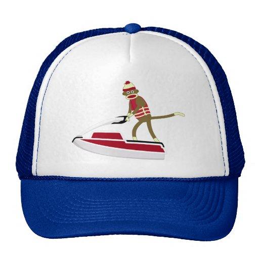 Sock Monkey Jetski Mesh Hats