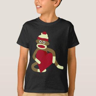 Sock Monkey Love Heart T-Shirt