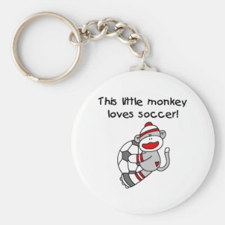 Sock Monkey Loves Soccer Key Chain