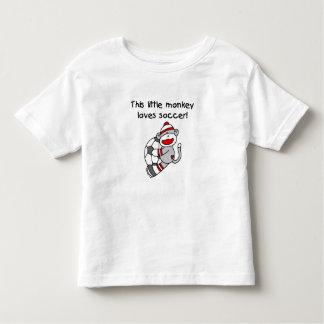 Sock Monkey Loves Soccer T-shirts