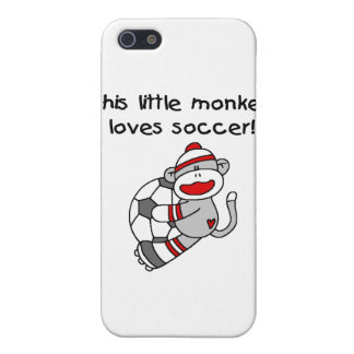 Sock Monkey Loves Soccer T shirts and Gifts Case For iPhone 5/5S
