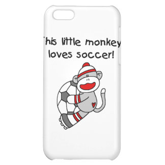 Sock Monkey Loves Soccer T shirts and Gifts Cover For iPhone 5C