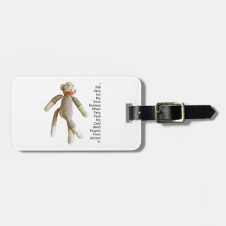 Sock Monkey Luggage Tag