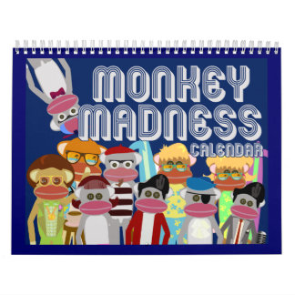 Sock Monkey Madness Wall Calendars