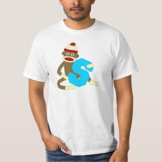 Sock Monkey Monogram Boy S Tshirts