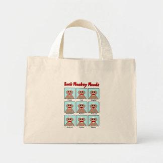 Sock Monkey Moods Tote Bag