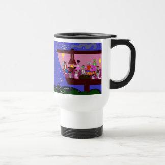 Sock Monkey Party Deluxe Mug