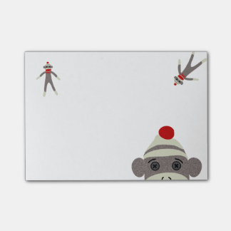 Sock Monkey Post-it Notes