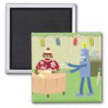 Sock Monkey Robot Waiter Magnets