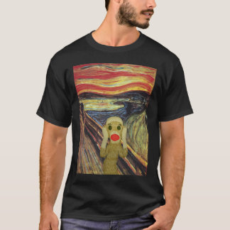 Sock Monkey Scream dark T-shirt
