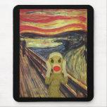 Sock Monkey Scream mousepad