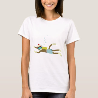 Sock Monkey Scuba Diver T-Shirt