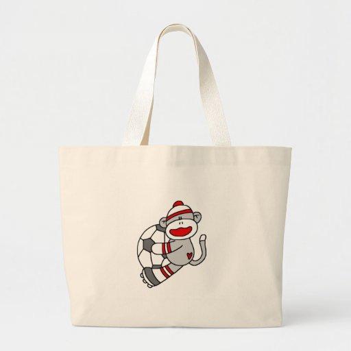 Sock Monkey Soccer Bag