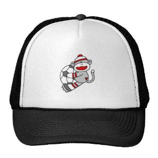 Sock Monkey Soccer Mesh Hat