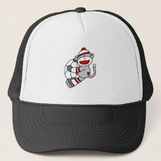 Sock Monkey Soccer Trucker Hat
