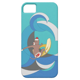 Sock Monkey - Surfing Bananas iPhone 5 Covers