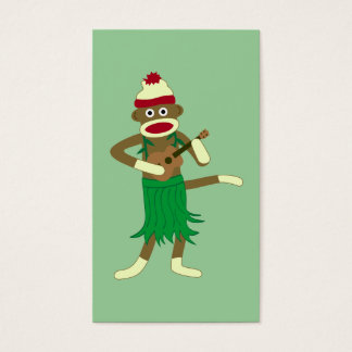 Sock Monkey Ukulele Business Card