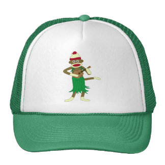 Sock Monkey Ukulele Trucker Hat