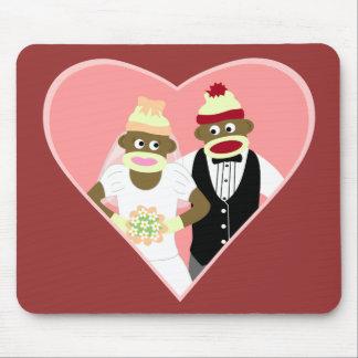 Sock Monkey Wedding Mouse Pad