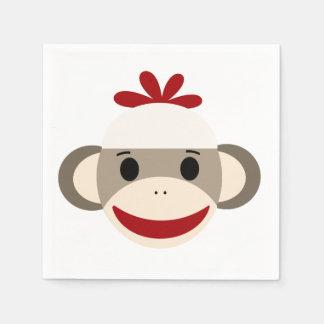 Sock Monkey White Paper Napkins Paper Napkin