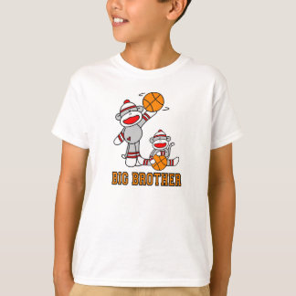 Sock Monkeys Basketball Big Brother T-Shirt