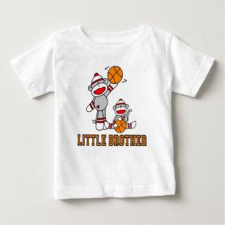Sock Monkeys Basketball Little Brother Baby T-Shirt