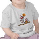 Sock Monkeys Basketball Little Brother T-shirt