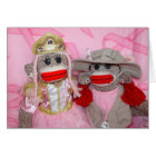Sock Monkeys for the Cure GIrlfriends Card