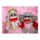 Sock Monkeys for the Cure Two Friends Postcard
