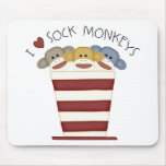 Sock Monkeys Mousepad