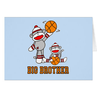Sockmonkey Basketball Big Brother Card
