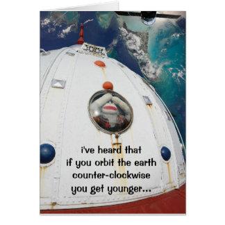 SockMonkey in Space Card