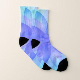 Socks Abstract Lotus Flower 1