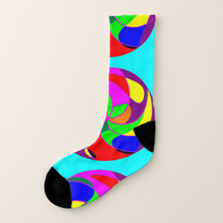 Socks: Abstract - shapes in circles. 1