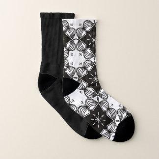 Socks black white Ethno