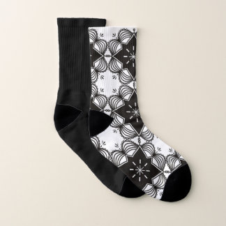 Socks black white Ethno 1