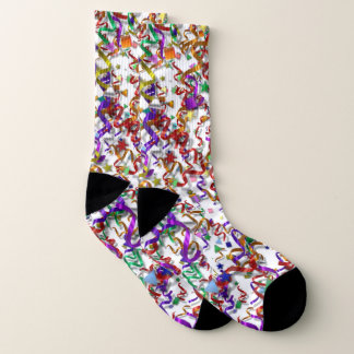 Socks - Confetti and Streamers