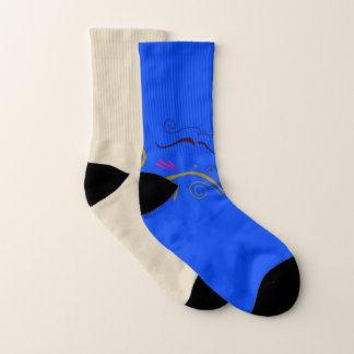Socks design blue beige