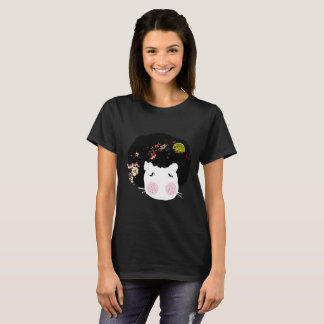 Socks doll Hippo Animal AfroHair Graphic T-shirt. T-Shirt