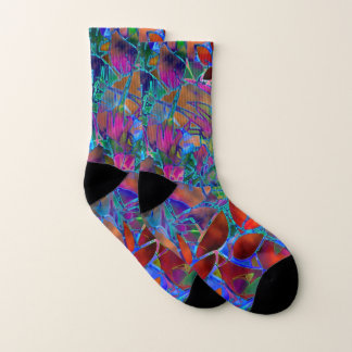 Socks Floral Abstract Stained Glass
