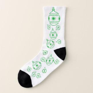 Socks - Green Tree Decorations 1