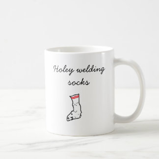 socks, Holey welding socks Coffee Mug