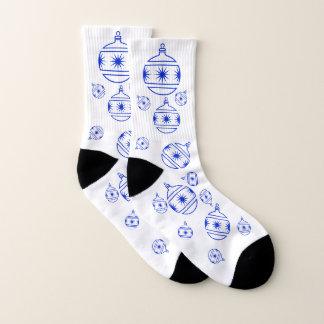Socks - Tree Decorations in Blue 1