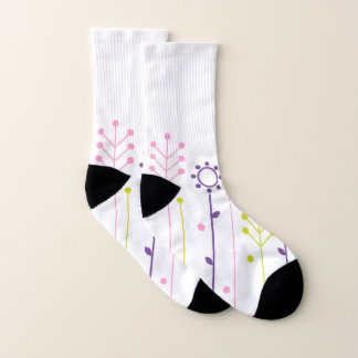 Socks white Meadow ethno 1