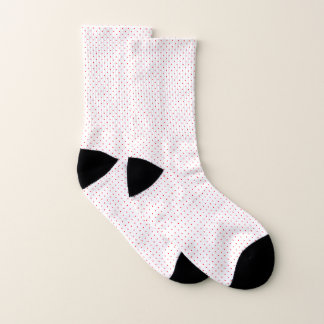 Socks White with Red Dots 1