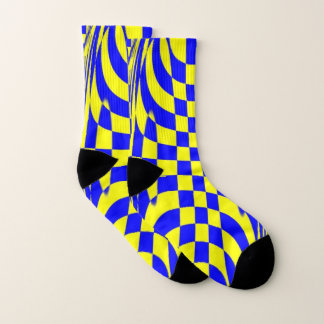 Socks with classic yellow and blue design 1