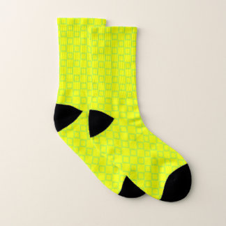 Socks with classic yellow and green design 1