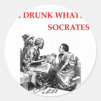 SOCRATES CLASSIC ROUND STICKER