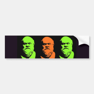 Socrates Collage Bumper Sticker