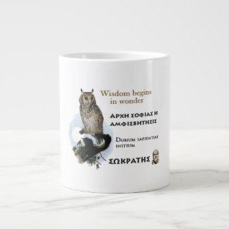 Socrates famous quote -Wisdom begins in wonder Jumbo Mug